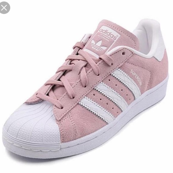 adidas Shoes - Adidas LIMITED EDITION superstar pink suede size 9 49db1b2c5b